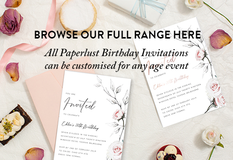 all ages birthday invitations